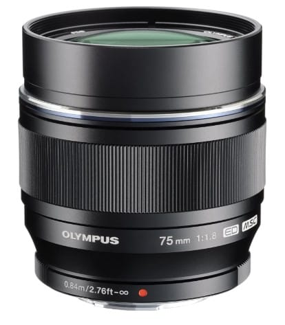 OLYMPUS V311040BU000 M.ZUIKO DIGITAL ED 75MM F1.8 LENS