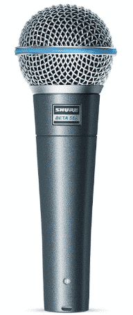 Shure BETA 58A Supercardioid Dynamic Vocal Microphone - best microphone for live vocals