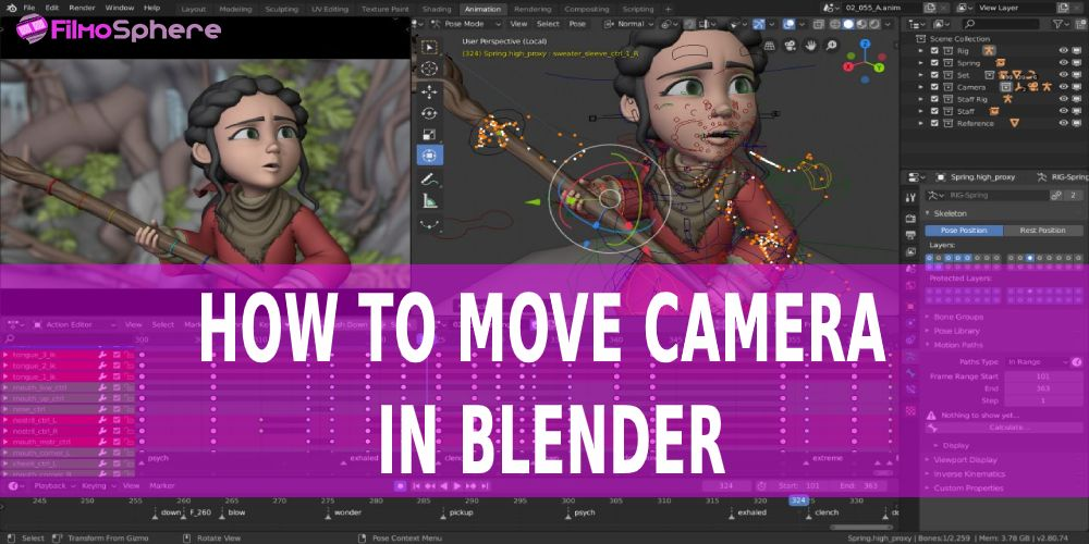 how to move camera in blender