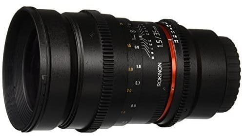 Rokinon 35mm - best lens for vlogging